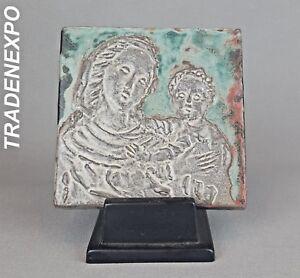Vintage-1940-039-50-PAUL-DRESSLER-GROOTENBURG-KREFELD-Tile-West-German-Pottery