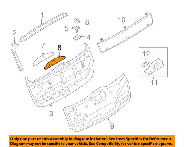 For BMW Genuine Liftgate Trim Rear Right 51493412808