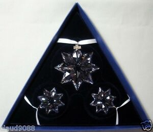SWAROVSKI-SILVER-CRYSTAL-2013-3-STARS-SET-ANNUAL-EDITION-MINT-IN-BOX-5004492