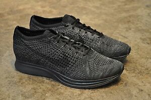 52a071cac1bc Nike Flyknit Racer Triple Black
