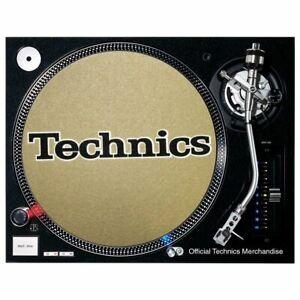 Slipmat Technics Logo Black With White Border On Gold Background 1 Piece 4250267677101 Ebay