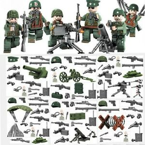 Lego-WW2-Bataille-de-Normandie-Soldats-Americains-Militaire-Armee-Military-USA