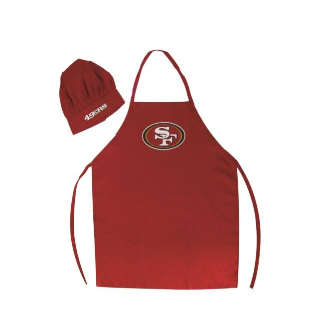 7100e4587 San Francisco 49ers NFL Barbeque Apron and Chef s Hat for sale ...