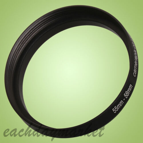 55mm a 58mm 55-58mm 55mm-58mm 55-58 Filtro Passo-Passo Step Up Anello Adattatore-UK
