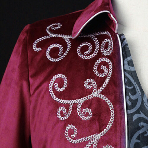 Mens Vampire Gothic Long Suit Jacket Showman Tuxedo Tailcoat Frock Coat Overcoat