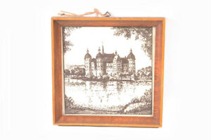 Vieux-Cadre-Photo-Avec-Ancien-Image-Moritzburg-Cadre-Bois-Vieux-Vintage