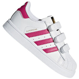 Nido ego Distraer  Adidas Superstar Enfants Bébé Fille Chaussures Baskets BZ0420 Baskets Blanc  Rose | eBay