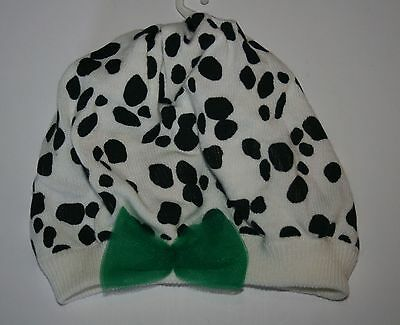 New Gymboree Fancy Dalmatian Tulle Bow Sweater Beret Hat size 0-12 Months NWT