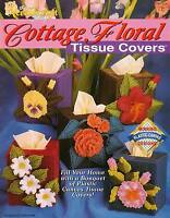 Cottage Floral Tissue Covers Flowers Plastic Canvas Pattern Book Rare