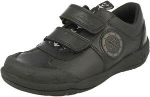wholesale dealer new products temperament shoes BNIB Clarks Boys Jetsky Fun Black Leather School Shoes size UK ...