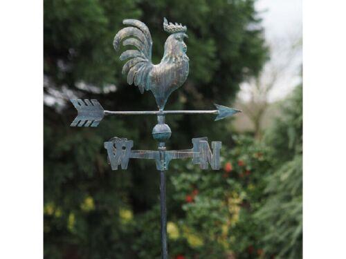 Wetterhahn Gartenstecker Windspiel  Gartendeko Metall Pflanzenstecker Hahn 464