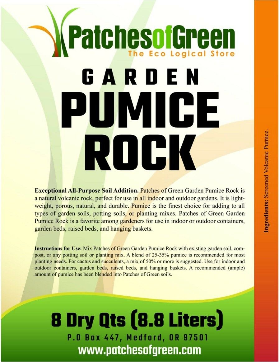 Patches Of Green Volcanic Garden Pumice Rock From 16 Dry Quarts