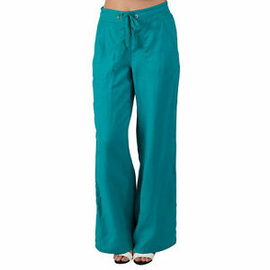 Ex famous chainstore Ladies linen trousers MS jade New