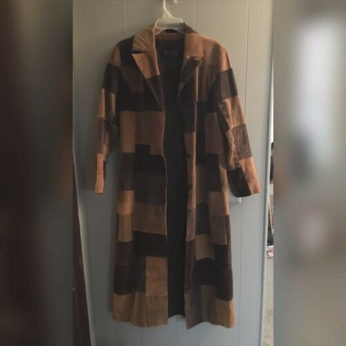 Wilsons Leather Suede And Leather Patchwork Duster