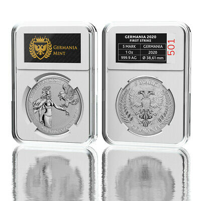 Germania Proof Germania 2020 5 Mark 1 Oz 999.9 Silver Proof Coin