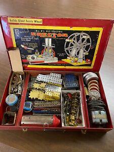 Vintage-1950s-AC-Gilbert-No-8-1-2-Electric-Automotive-Metal-Erector-Set-In-Box