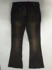 Fishbone  Jeans Hose Schlaghose Braun Gestreift W28 L32