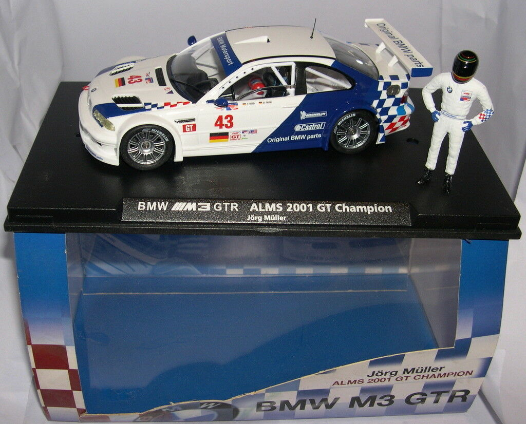 FLY 96014 E-283 SLOT CAR BMW M3  43 ALMS GT CHAMPION  JORG MULLER  LTED.ED  MB