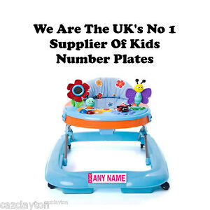 PERSONALISED-NUMBER-PLATE-FOR-YOUR-BABY-WALKER-034-PINK-034