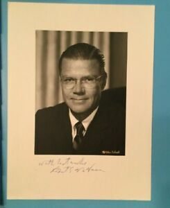 Robert-McNamara-Signed-Autograph-B-amp-W-Photograph-Secretary-of-Defense