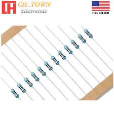 100pcs 14w 025watt Metal Film Resistor 1 1 Ohm To 10k Ohm To 91m Ohm