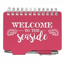 2873 Welcome To The Seaside Pink Password Organizer Book Withpen Purse Sized