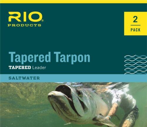 RIO 2 PACK TARPON PRO 10/' FOOT 40 LB CLASS 80LB FLUORO SHOCK FLY FISHING LEADER