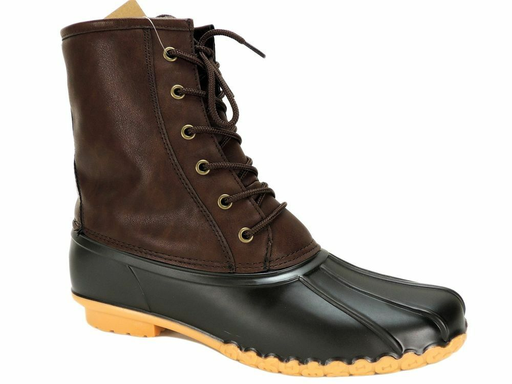 Weatherproof  MEN'S Duck BOOTS Waterproof WINTER Boots ADAM Size 13 M Brown