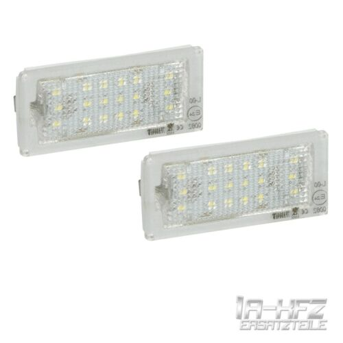 2x LED LICENCE PLATE LIGHTS NUMBER PLATE BULB MODULE BMW 3 E46 COUPE CONVERTIBLE