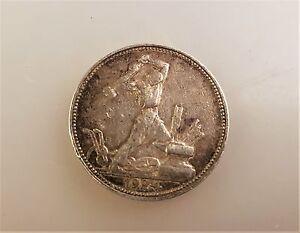 50 Kopeken 1924 Rar Münze Russland Poltinnik Silber Ebay