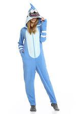 Mordecai Regular Show One Piece Costume Pajamas Union Suit L