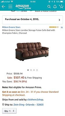 Milton Greens Stars London Futon Sofa