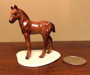 Ceramic Horse Figurine  Statue Backwards Color Variation SPECIAL RUN Hagen-Renaker Mini #2011-1 Appaloosa /& Colt on Base