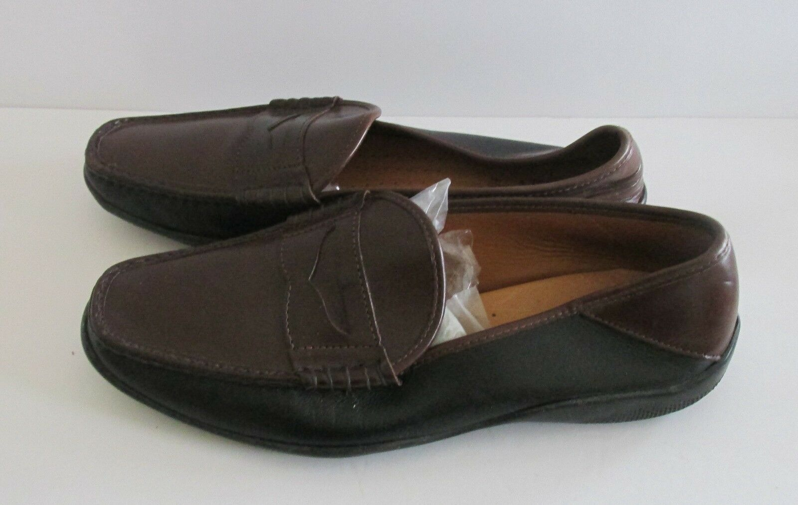 Men's Sz 11 D Allen Edmonds HYDE Calf Leather Made in USA 2 Tone Run Short Penny