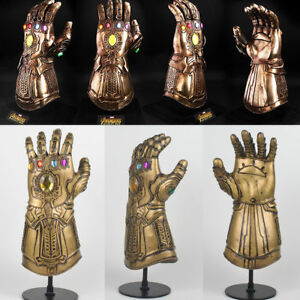 The Avengers Thanos Infinity Gauntlet Glove Black Panther Mask Cosplay Prop US