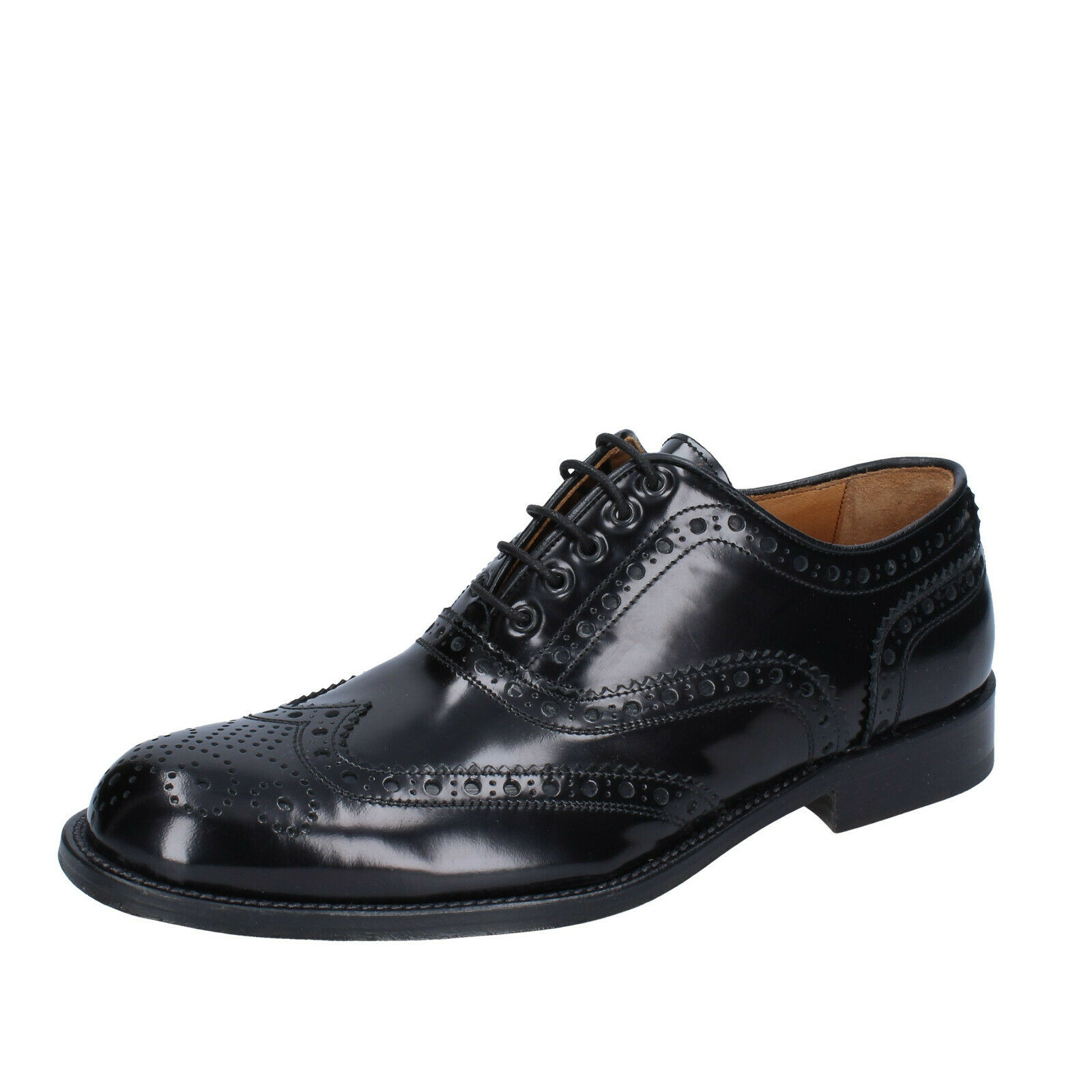 Mens schuhe ALEXANDER 8 (EU 42) elegant elegant elegant schwarz shiny leather BS211-42 d80e0b