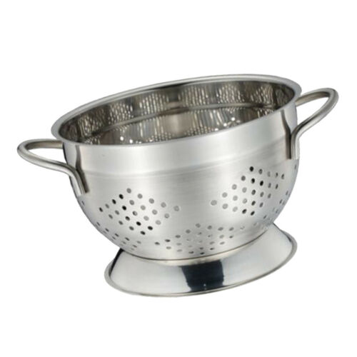 Stainless Steel Even Holes Strainer Bowl Drainer Fruits Colander Draining M