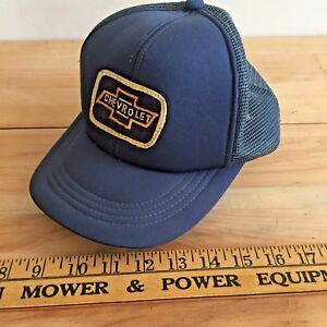 Image is loading Vintage-Chevrolet-Trucker-Hat-snap-back-embroidered-patch- 3e65b82ddbc
