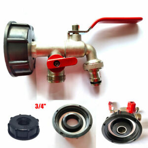 IBC-Tank-to-3-4-034-Yard-Garden-Water-Tap-Hose-Connector-Adapter-Fittings-Tool-S60X6