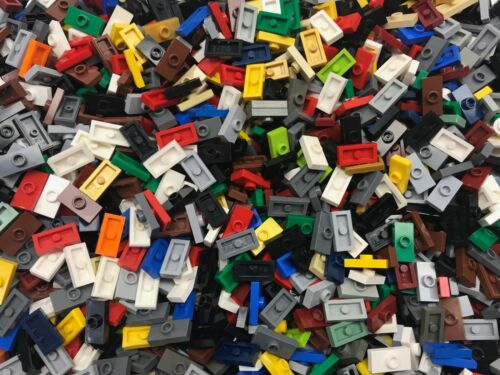 50 Lego 1x2 Jumper Tiles Lot mixed colors modified 1 x 2 plate with 1 stud