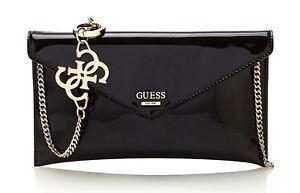 GUESS-SPRING-FLING-Crossbody-Clutch-Schwarz-Damentasche-Umhaengetasche-Handbag