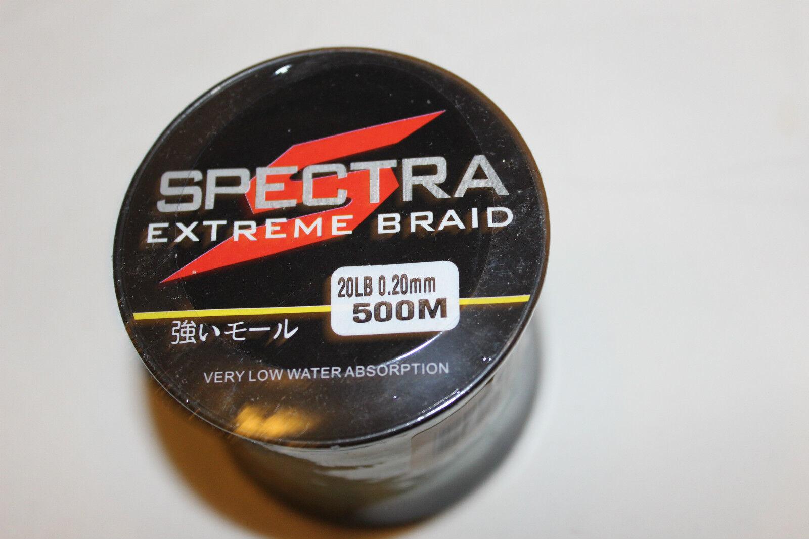 SPECTRA  DYNEMA -GEFLOCHTENE SCHNUR- 500m-020mm-9,1 kg-green