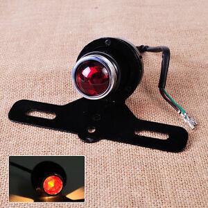rot r cklicht bremslicht motorrad hinten rund mit. Black Bedroom Furniture Sets. Home Design Ideas