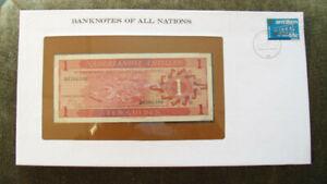 Banknotes of All Nations Netherlands Antilles 1970 1 Gulden P-20 UNC Prefix D