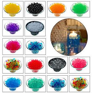 500-x-eau-Perles-Clear-Aqua-Gel-Cristaux-Bio-Gel-Balles-Mariage-Vase-Centre-de-table