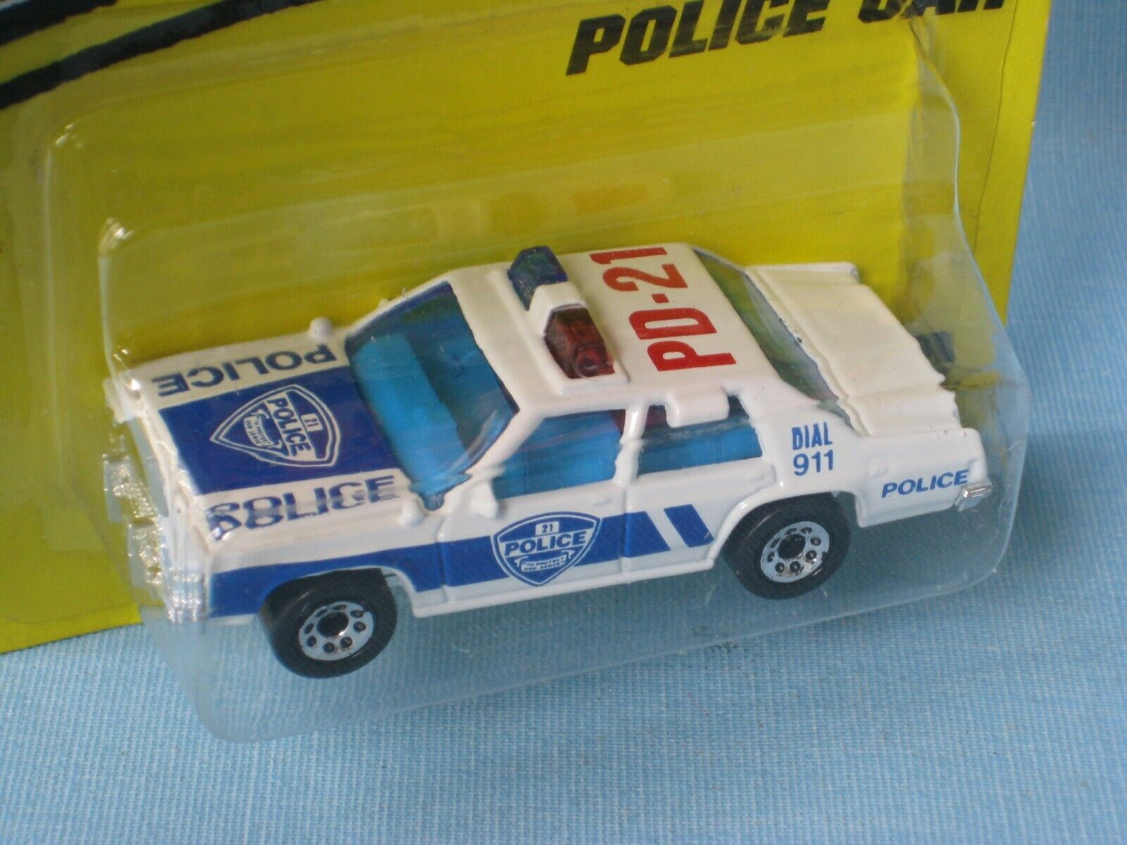 Matchbox Ford LTD State Police Car bluee Livery Toy Model Car 75mm Long in BP