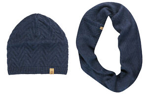 6745c799 Timberland Womens Cable Knit Scarf Snood Hat Winter Set Navy A13JT ...