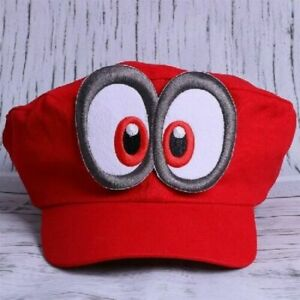 Super Mario Odyssey Game Cosplay Handmade Cap Adult Kids Hat