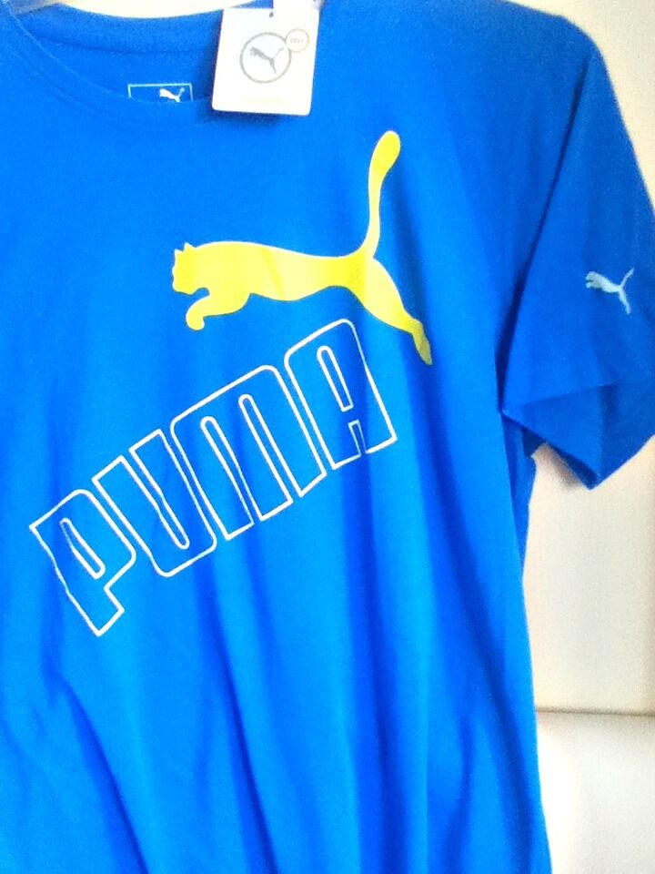 AUTHENTIC PUMA DRI-RELEASE LARGE TILTED LOGO T SHIRT WHITE 835766 06