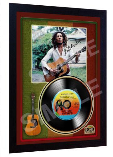 Bob Marley No Woman No Cry SIGNED FRAMED PHOTO PRINT AND Mini LP Perfect Gift #2